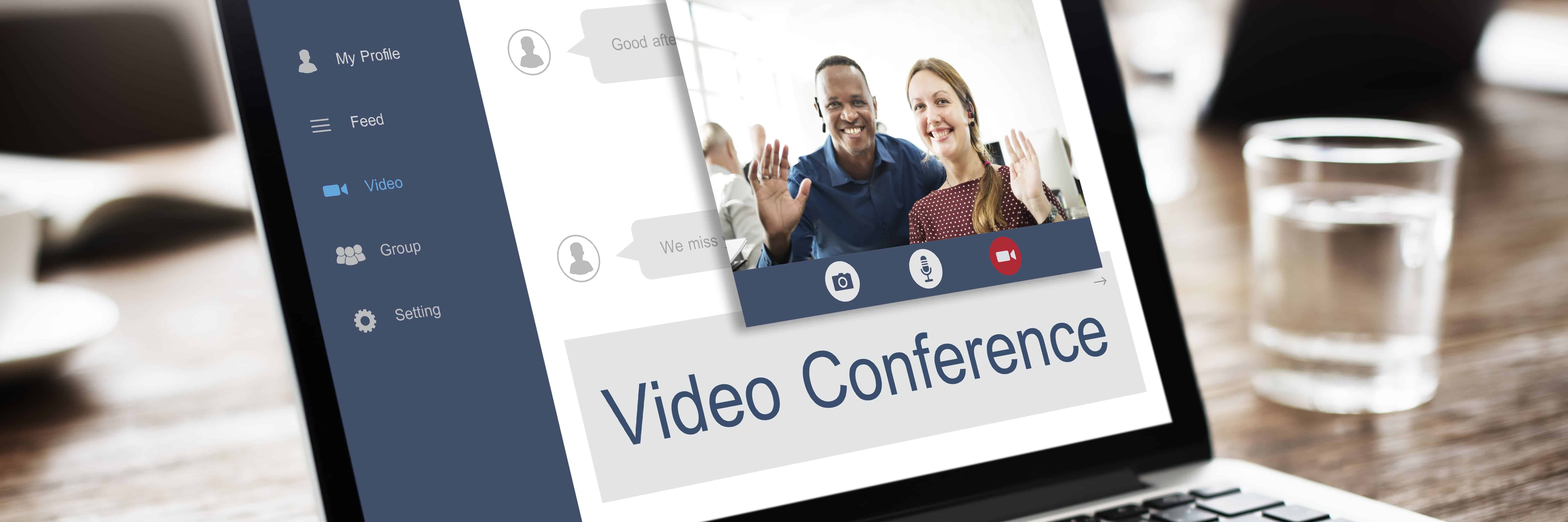 Online video consulations can be done via video conferencing on a laptop
